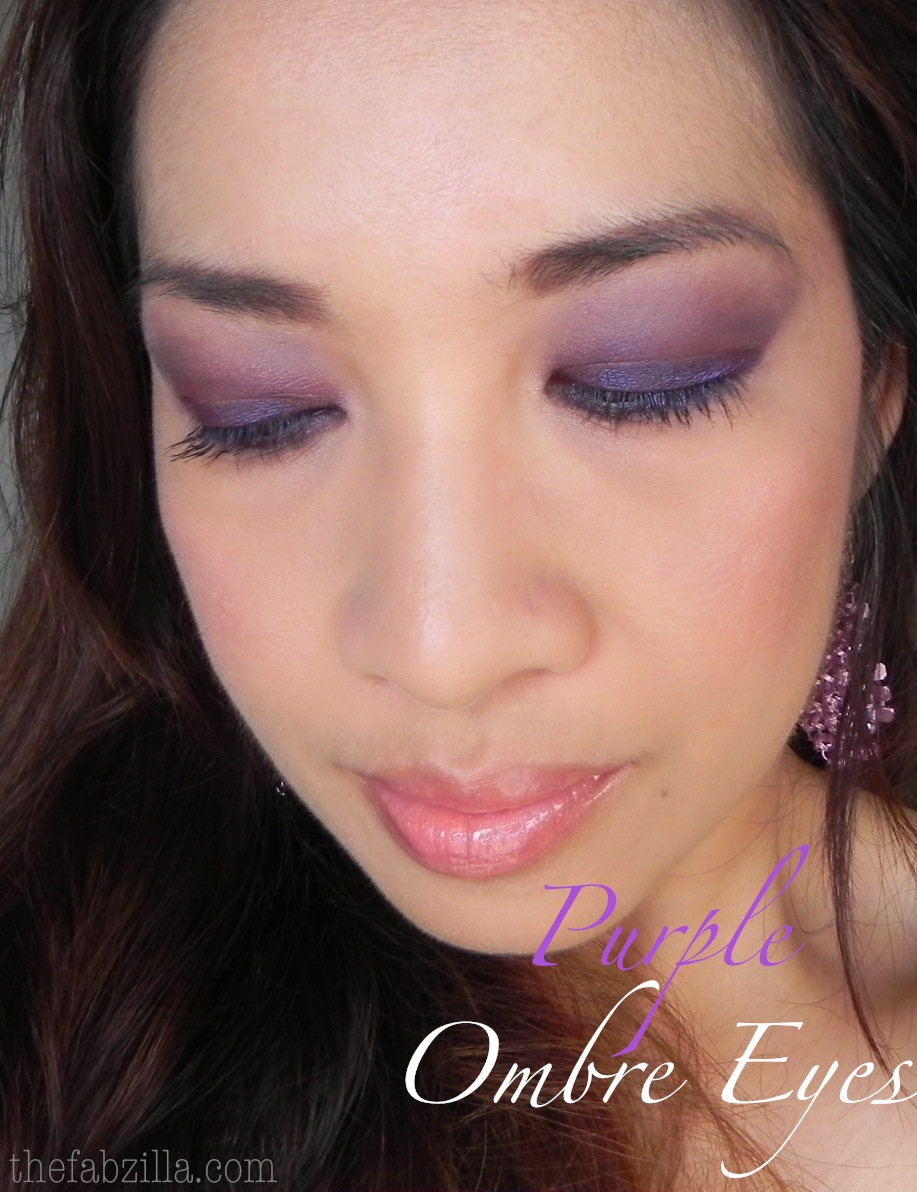 Purple Ombre Eyes: One Eyeshadow Technique