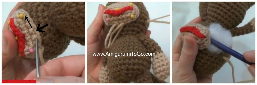 Crochet Large Monkey - YouTube | 333x1000