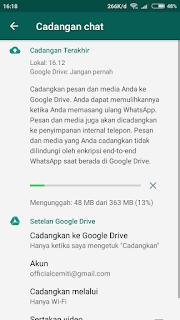 Cara Mencadangkan Chat / Pesan WhatsApp di Google Drive