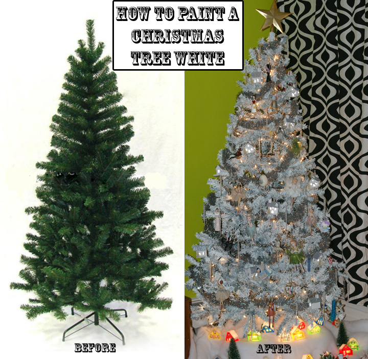 Artificial Christmas Tree Spray: Quirky Artist Loft: How To Paint A Christmas Tree From