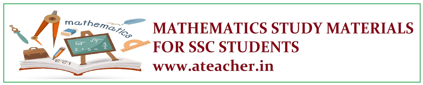MATHEMATICS STUDY MATERIAL CHAPTER WISE IMPORTANT PROBLEMS LIST AND SOLUTIONS