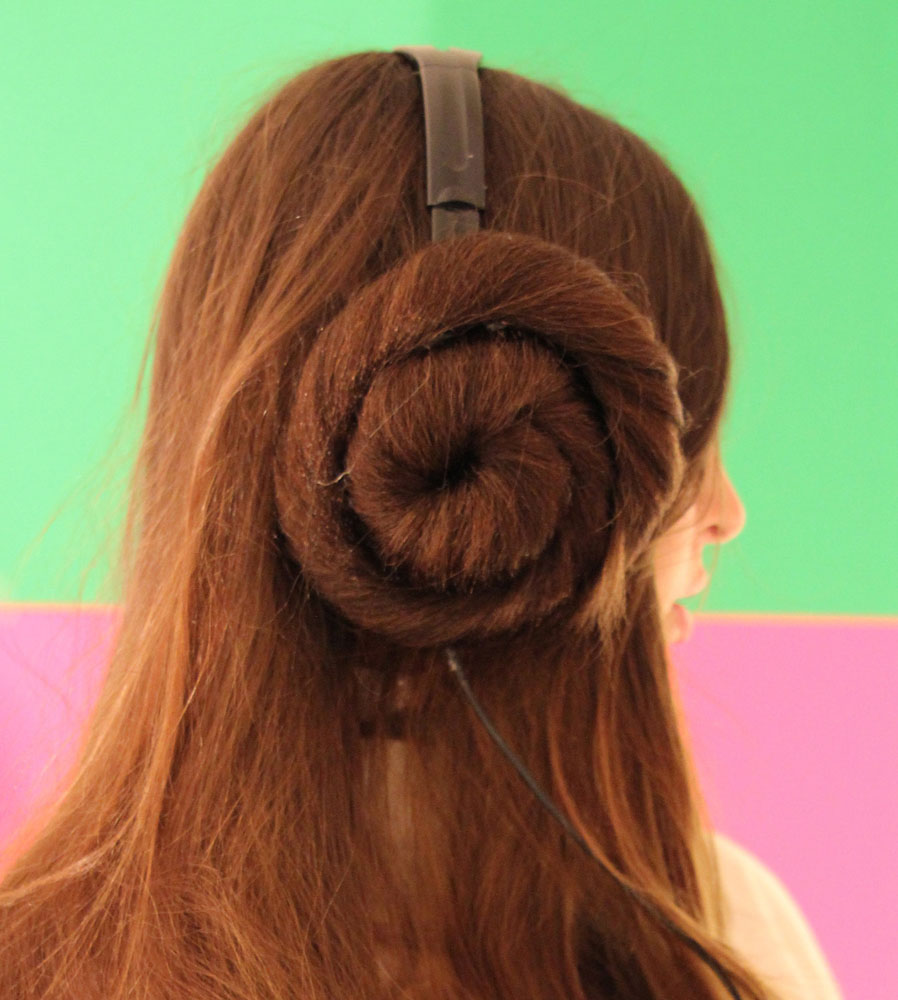 Princess Leia Headband Wig Star Wars Movie Carrie Fisher Hair Buns Adult Womens