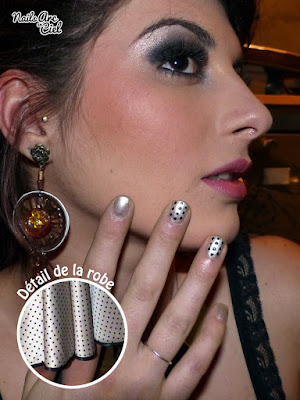 Nail art pour défilé Pin' Up par Nails Arc en Ciel