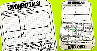 Exponential Functions Quick Check and Warm-Up Template