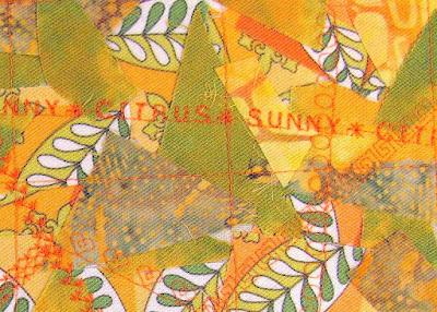 mixed media fabric art details