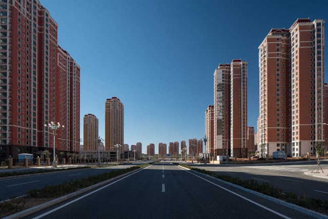 Spectacular architecture in China's largest ghost town