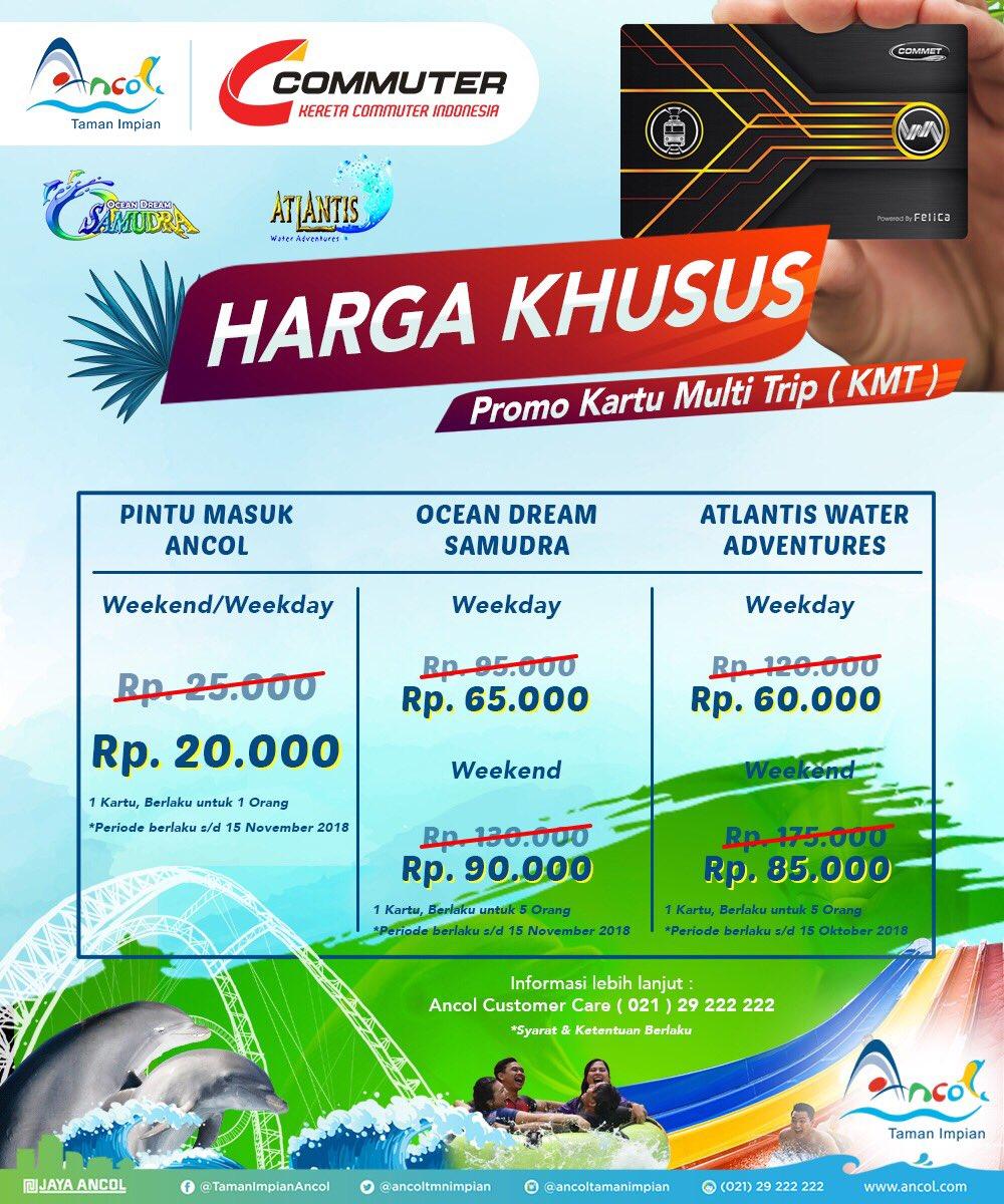 Ancol - Promo Harga Khusus Tiket Masuk Cuma 20 Ribu Pakai Kartu Multi Trip Commuter Line