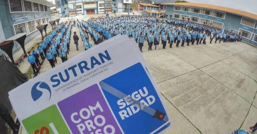 Escolares, transportistas y autoridades de Cajamarca comprometidos con prevenir accidentes