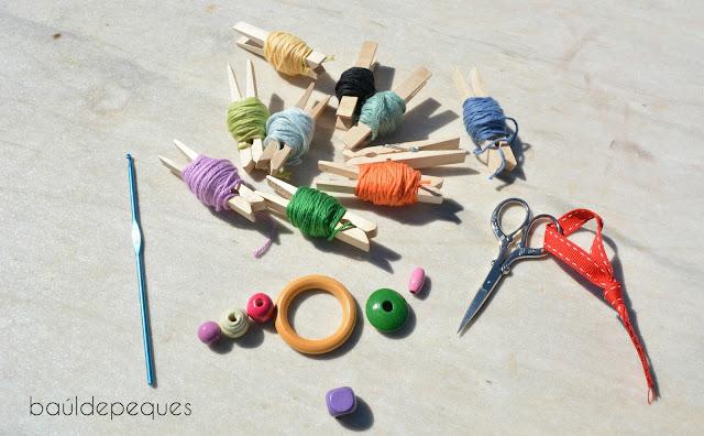 materiales para el taller, mercería Peques