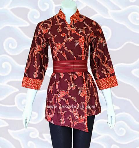 Trend Batik Kerja 2014: MODEL BAJU BATIK WANITA MODERN MODEL TERBARU ONLINE