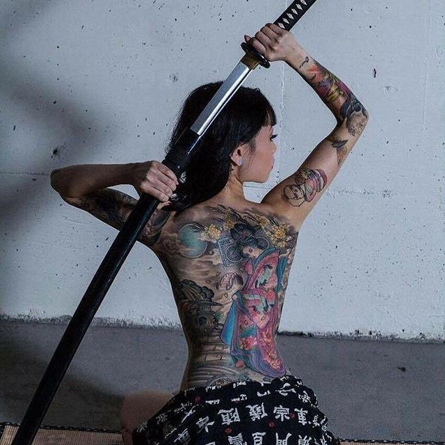 Gambar Tato 3D Keren Terbaik Yakuza Cewek Jepang Terbaru