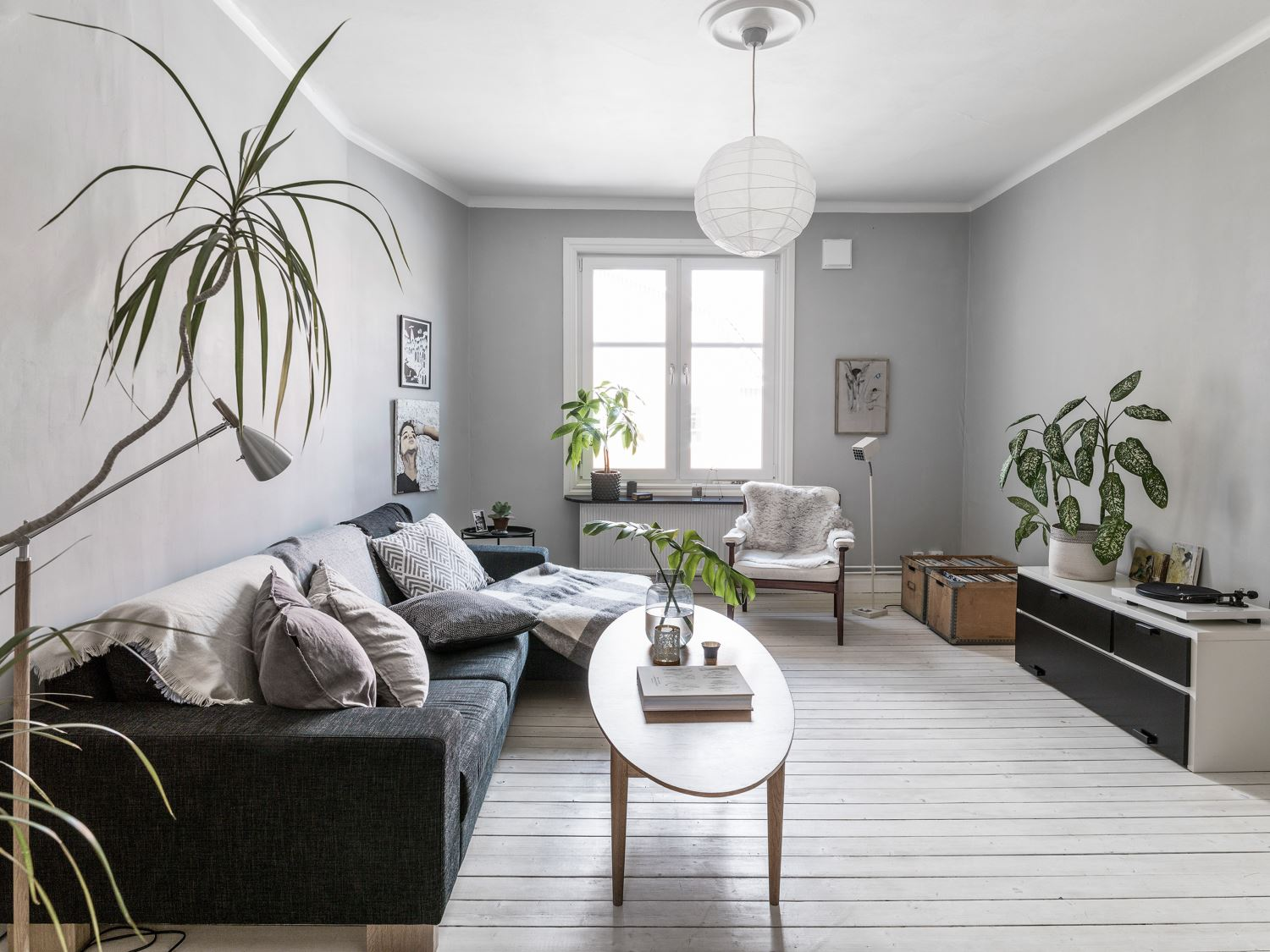 serene scandinavian duplex apartment