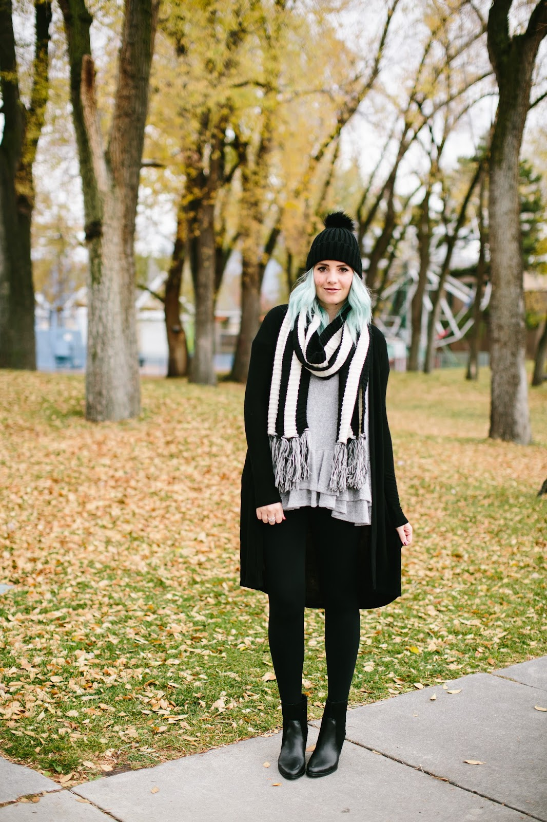 Striped Scarf, Winter outfit, Fall Style