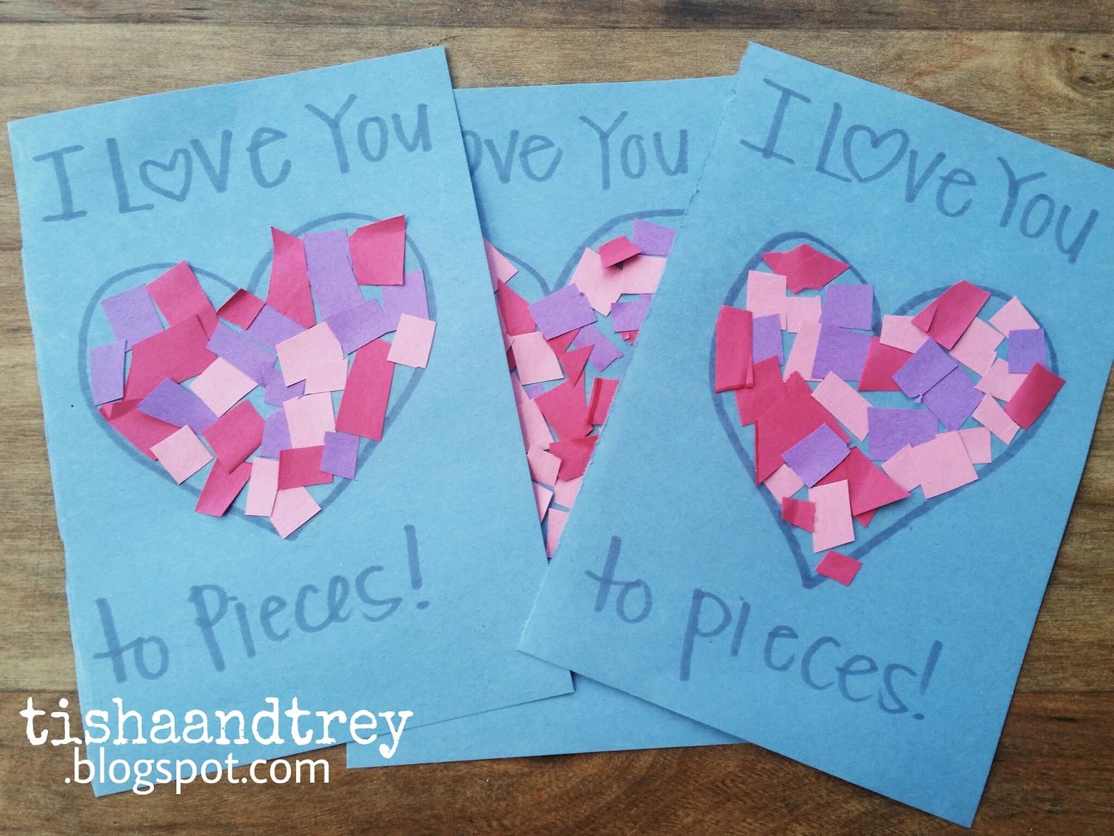 Tishaandtrey Valentine S Day Handprint Art