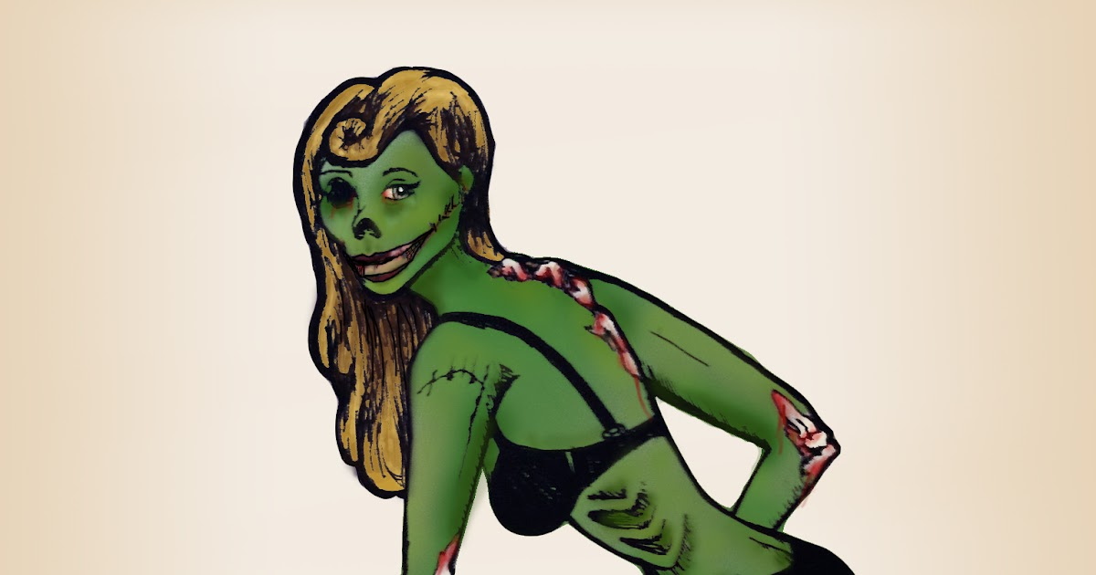 Zombie Pin-Up Girl Tat