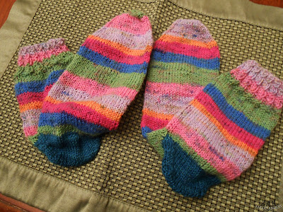A Self Striping, Afterthought Heel, Sock Knitting Journey