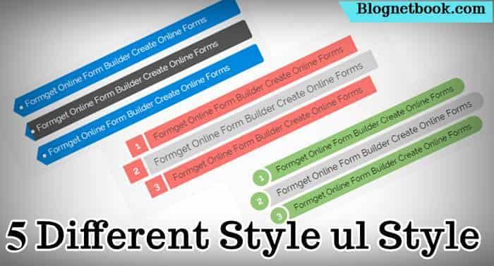 5 stylish css ul list styles.