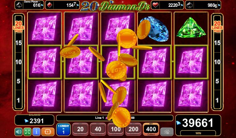 Jucati acum 20 Diamonds Slot Online