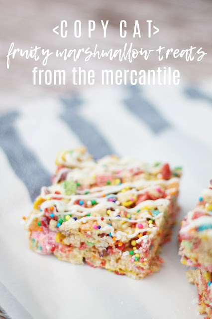 Fruity Marshmallow Treats via @labride