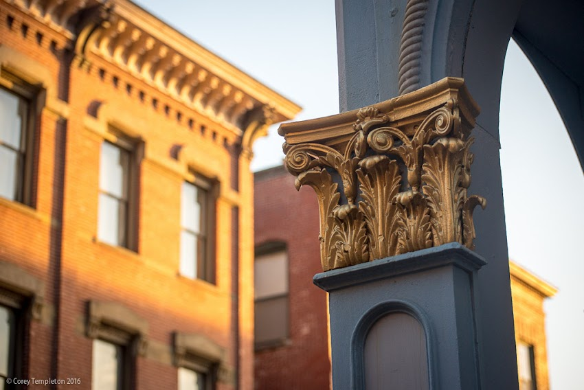 Portland, Maine USA April 2016 photo by Corey Templeton of details in the Old Port, at the corner of Exchange and Milk Streets.