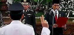 Ahok Dilantik Sebagai Gubernur DKI Jakarta
