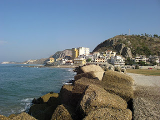 The marina area at Siculiana is part of an unspoilt stretch of Sicilian coastline in the southeast of the island