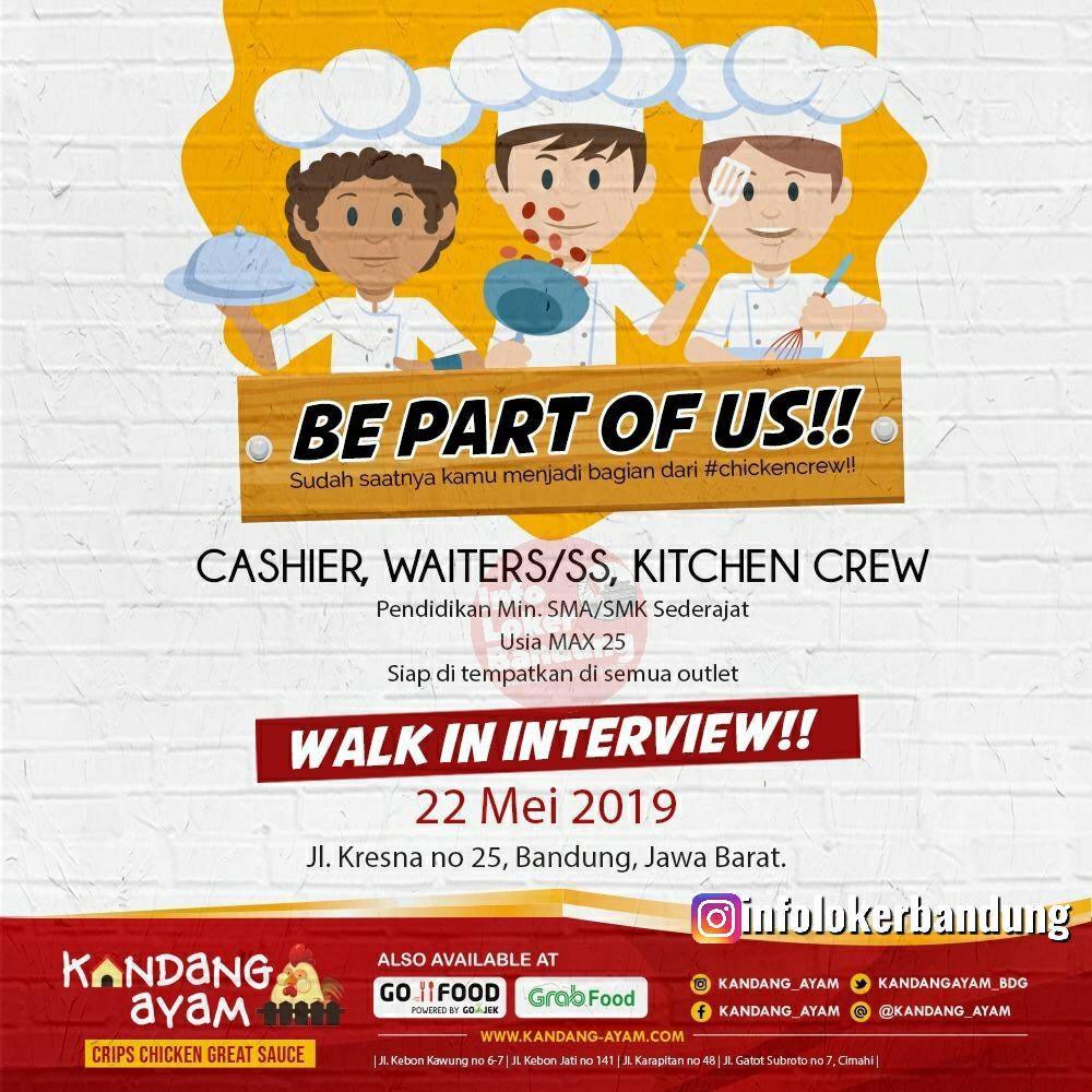Lowongan Kerja Kandang Ayam Bandung ( Walk In Interview ) 22 Mei 2019