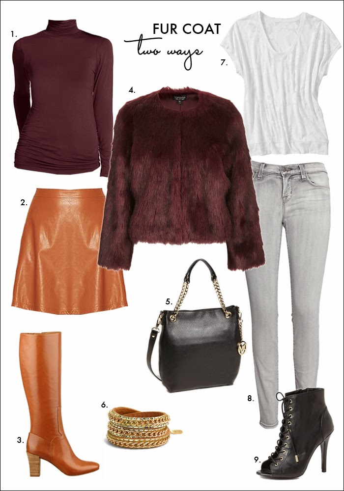 #nyfw, NYFW street style, faux fur trend, faux fur coat, how to wear skinny jeans, how to wear burgundy, fashion trends