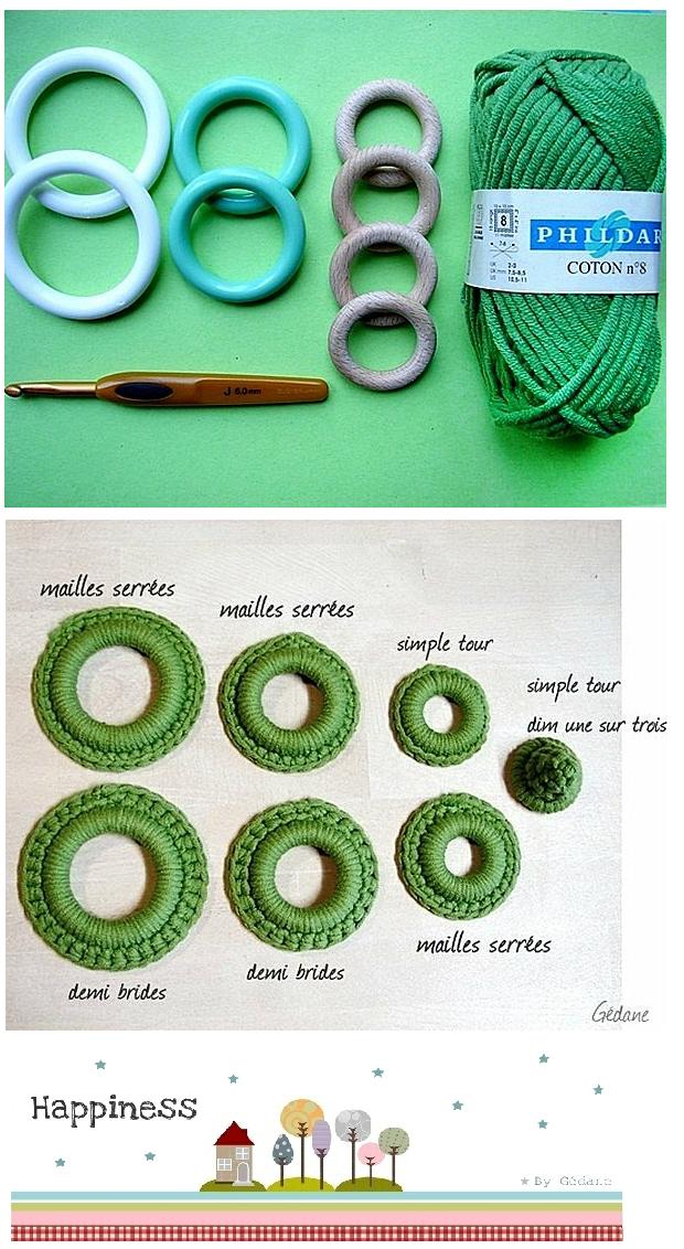 Arbol de Navidad con Anillas de Crochet
