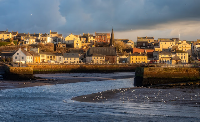 Photo of Maryport bathed in the golden afternoon light