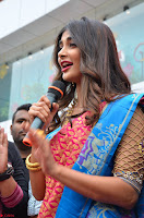 Puja Hegde looks stunning in Red saree at launch of Anutex shopping mall ~ Celebrities Galleries 131.JPG