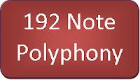 192 note polyphony