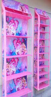 Rak Tas Rak Sepatu Barbie Pink