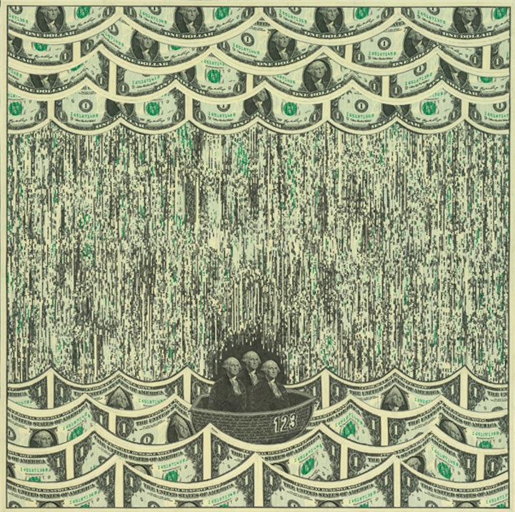 Mark Wagner. Single Dollar Collages.Doctor Ojiplatico