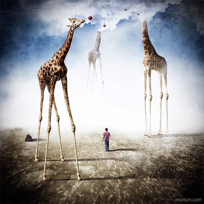 16-Giraffe-Land-Manuel-Rodriguez-Sanchez-Surreal-Imaginarium-Land-of-Dreams-www-designstack-co