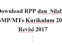 Download RPP dan  Silabus SMP/MTs Kurikulum 2013 Revisi 2017
