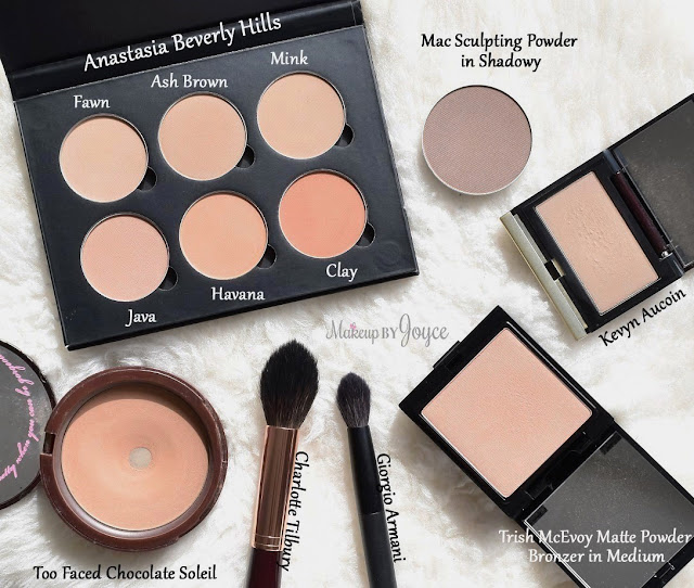Matte Contour Sculpting Bronzer Powders Collection Comparison Review Swatch