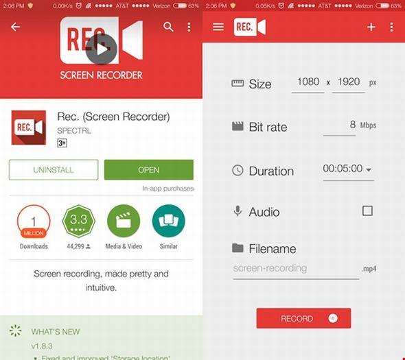 [Android] BXH 4 ứng dụng quay phim màn hình không cần roo