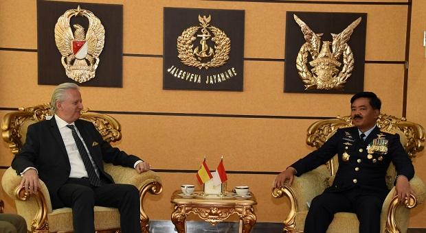 Panglima TNI Terima Kunjungan Kehormatan Dubes Spanyol