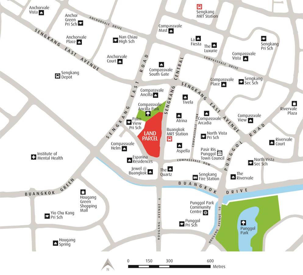 Buangkok MRT Mixed Development - Location Map