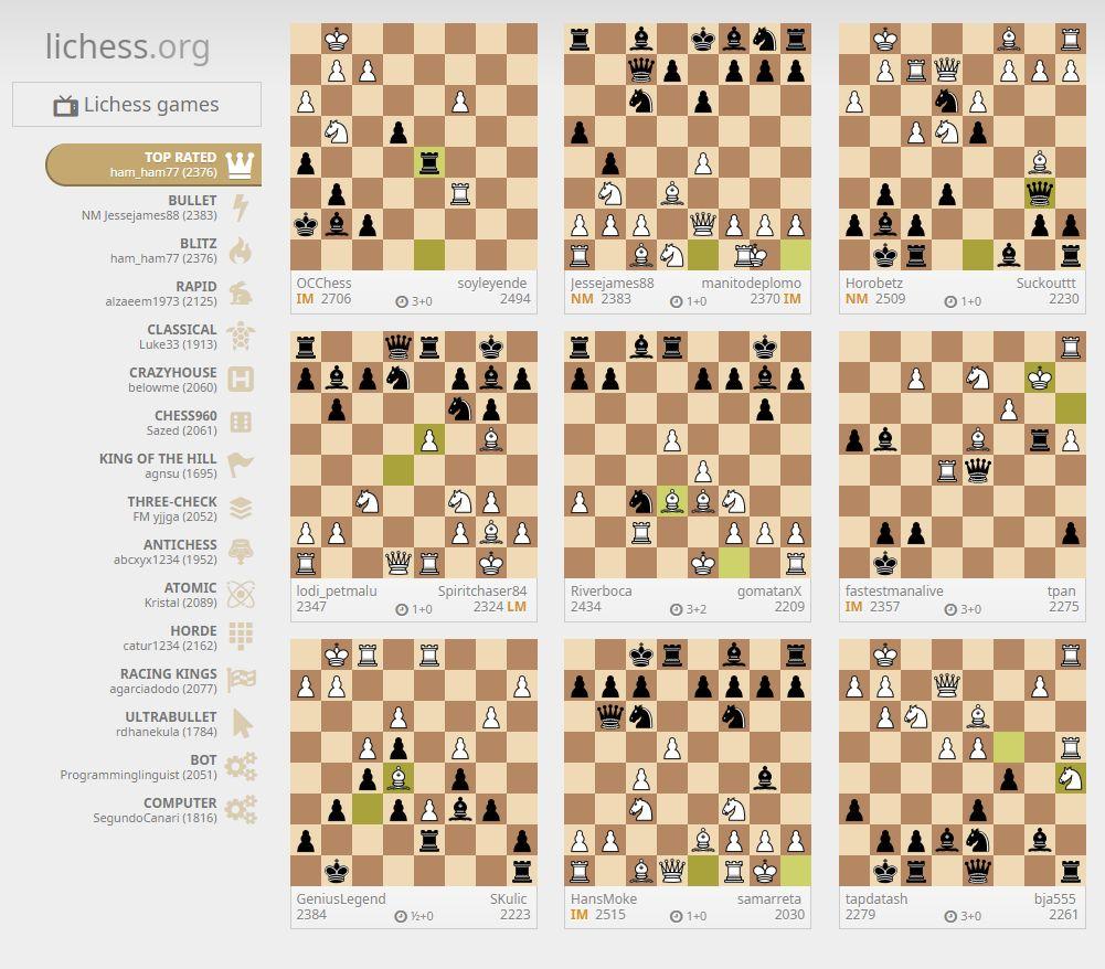 Chess Engines Diary: Lichess - best Internet Chess Server
