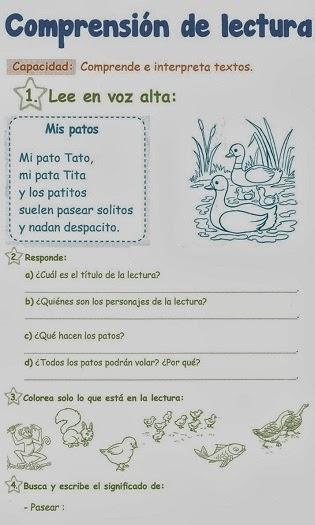 http://razonamiento-verbal1.blogspot.com/2013/12/comprension-de-lectura-1-grado-primaria.html