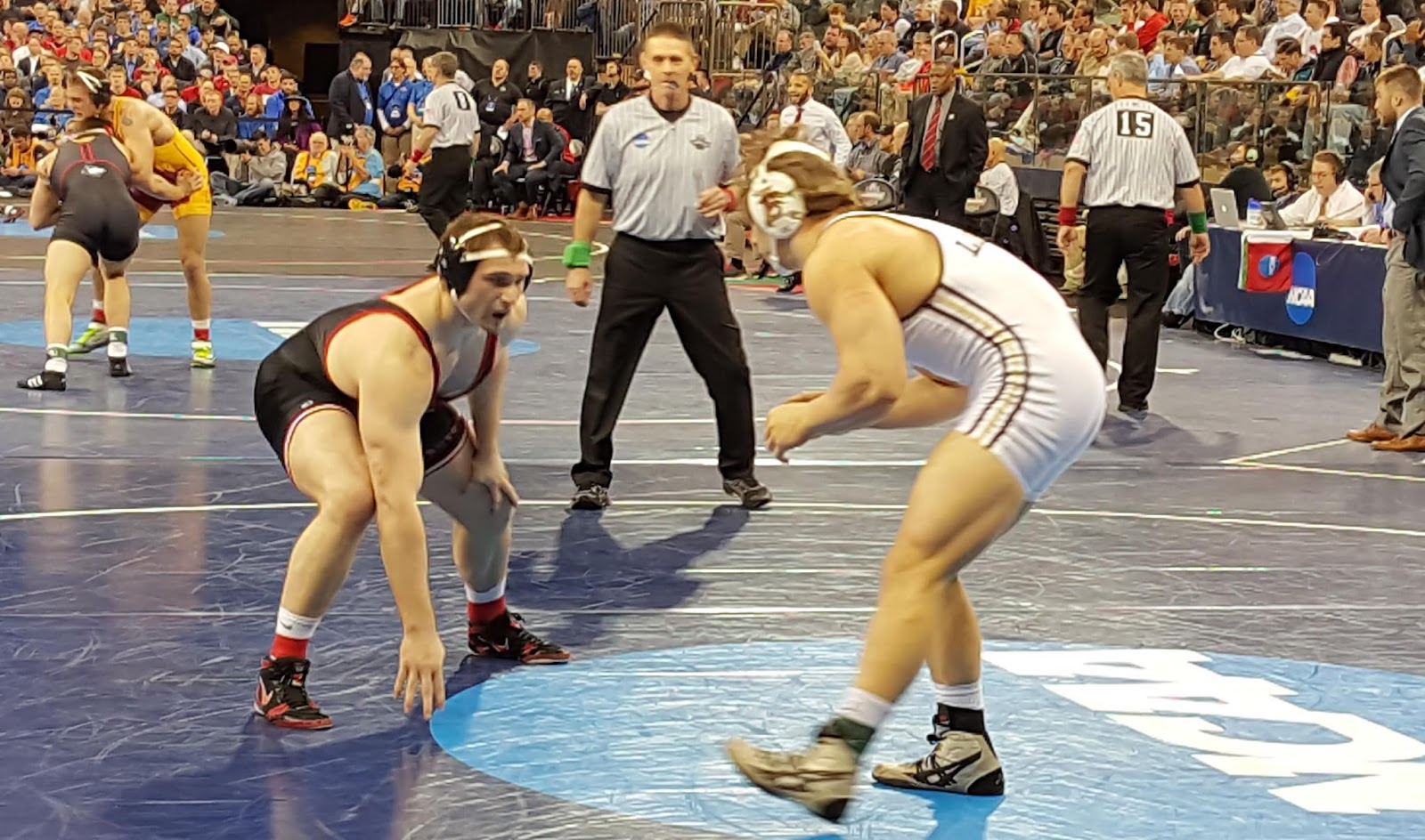 open mike wrestling smith falls short of all america status rutgers billy smith left in action against lehigh s max wessell