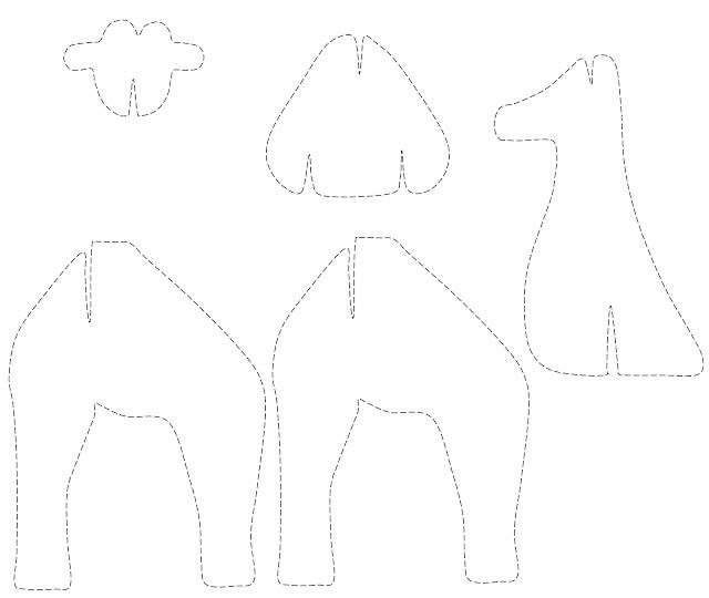 girafa colaj miniatura savana