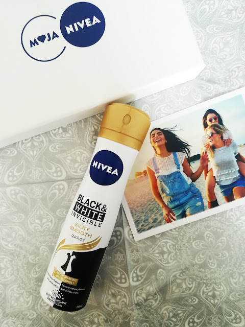 Antyperspirant Black&White Invisible Silky Smooth Nivea
