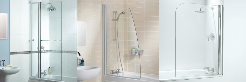 Glass partition in the bath