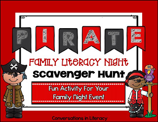 Pirate Themed Family Literacy Night Scavenger Hunt