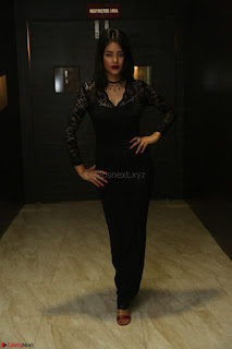 Actress Monica in spicy transparent Black Top at O Pilla Nee Valla Movie Audio Launch Feb 2017 044.JPG