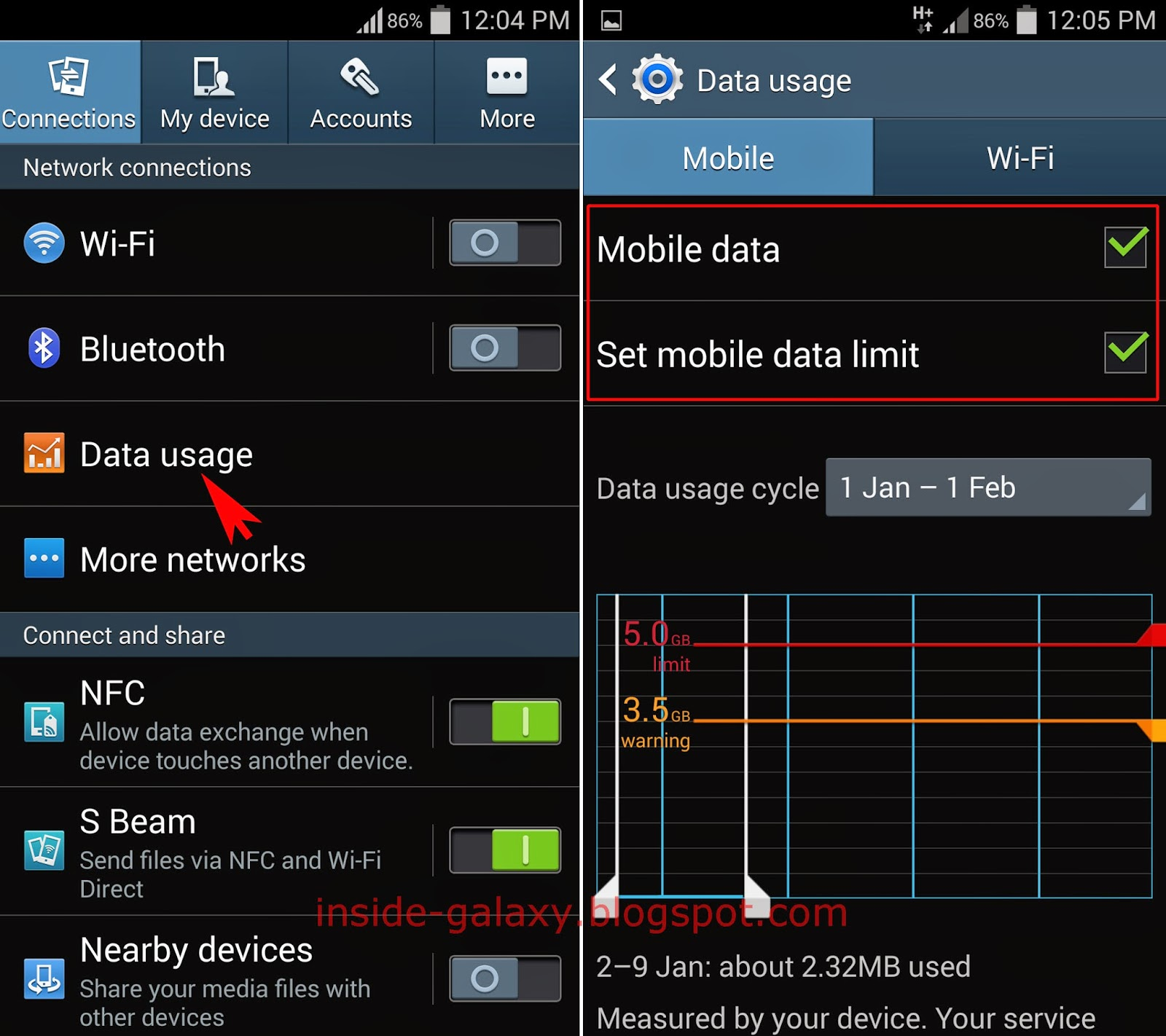 Samsung Galaxy S4: How to Set Mobile Data Limit in Android
