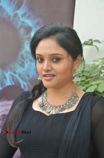 Kala Kalyani Stills in Black Salwar Kameez at Engeyum Naan Iruppen Audio Launch
